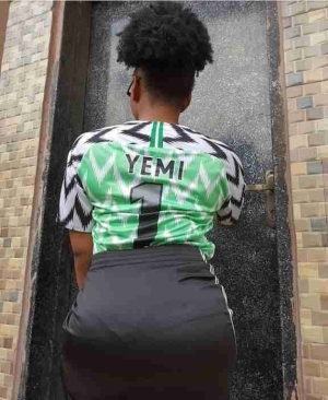 Yemi Alade Rocks Customised Super Eagles Jersey In Style